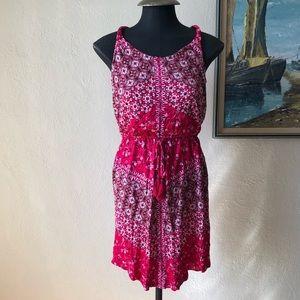 Lucky Brand red floral boho dress NWT size…